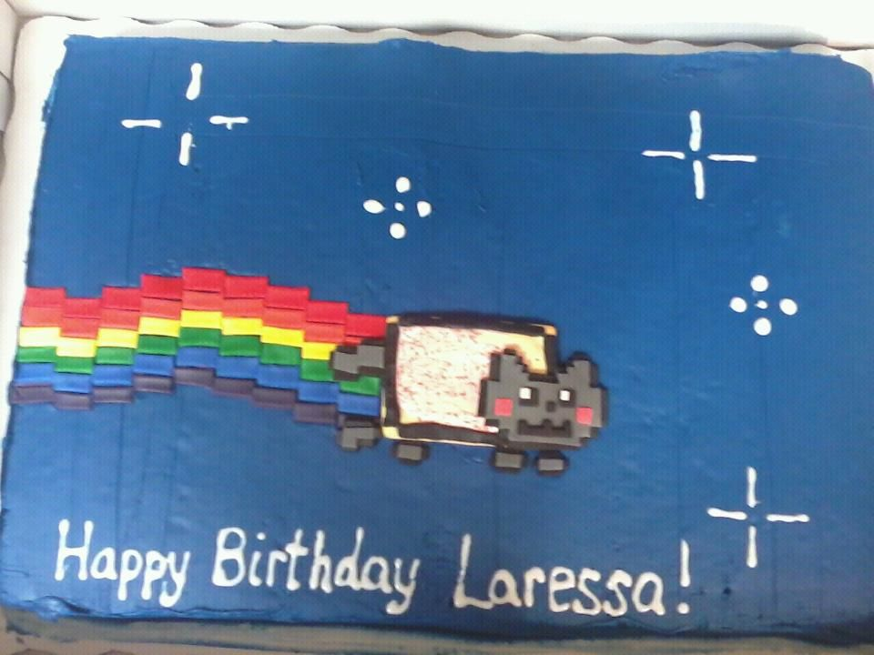 Nyan Cat Cake turned out pretty good.