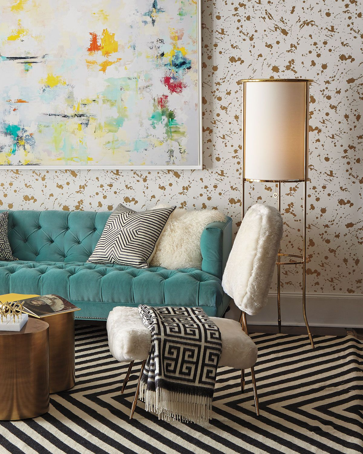Turquoise Lounge Chair Old High With Wheels Jonathan Adler Maxime White Products Pinterest