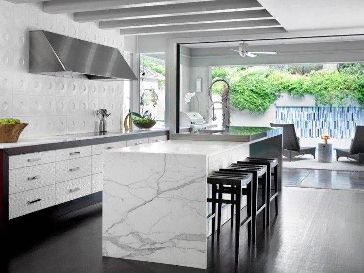 Schön Weiße Marmor Küchen   75 Ideen Für Den Einsatz Von Marmor