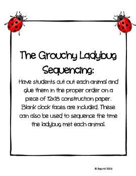 The grouchy ladybug writing activity
