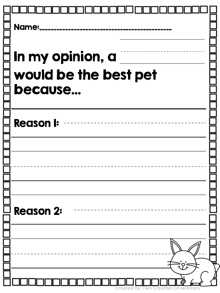 Opinion Writing Pets Opinion writing, 1st grade writing