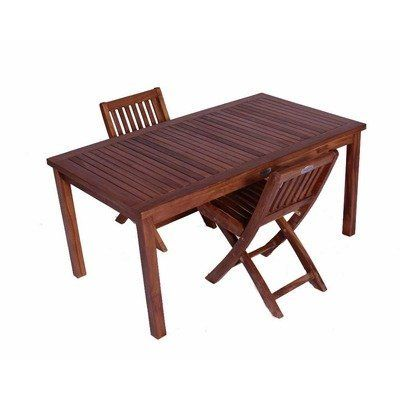 Clic Kids 3 Piece Teak Table And Folding Chair Set By Jazty 399 95 Outdoor Furniture Childrens Patio 2