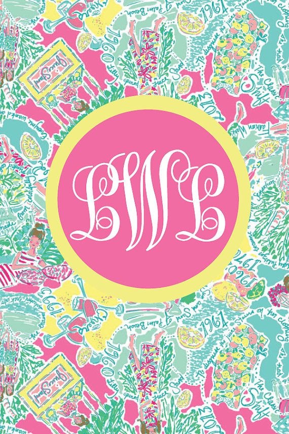 Lilly Pulitzer In The Beginning Monogrammed Iphone Wallpaper Background Screen Saver From Elle O Font Preppy Lillypulitzer Monogram