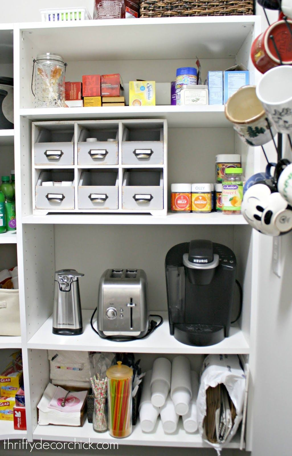 Doityourself pull out shelf for appliances in pantry