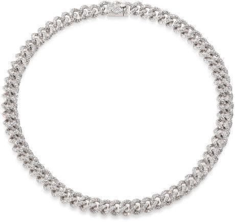 Adriana Orsini PavÉ Crystal Small Chain Necklace in Silver