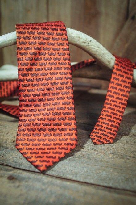 Mustache - Red - Necktie