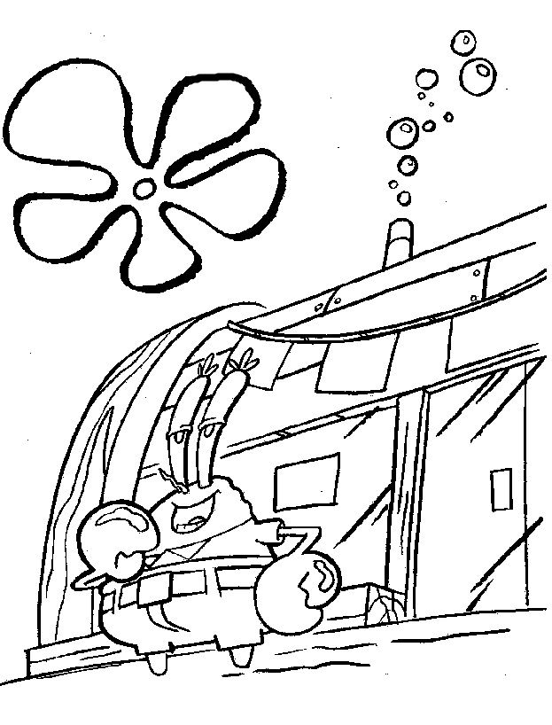 Krusty Krab Resturant Coloring Pages Spongebob Coloring Spongebob