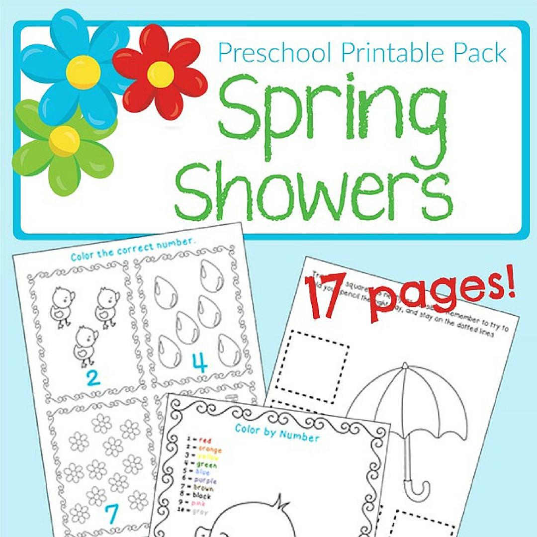 Free Spring Showers Preschool Printable Pack Spring Preschool Activities Spring Worksheets Preschool Preschool Printable [ 1080 x 1080 Pixel ]