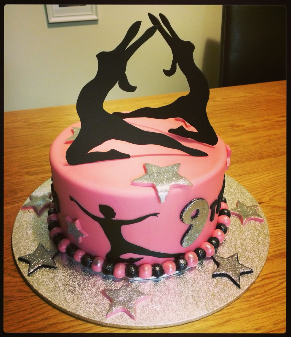 Peachy Dance Themed Cake With Images Dance Cakes Personalised Birthday Cards Beptaeletsinfo