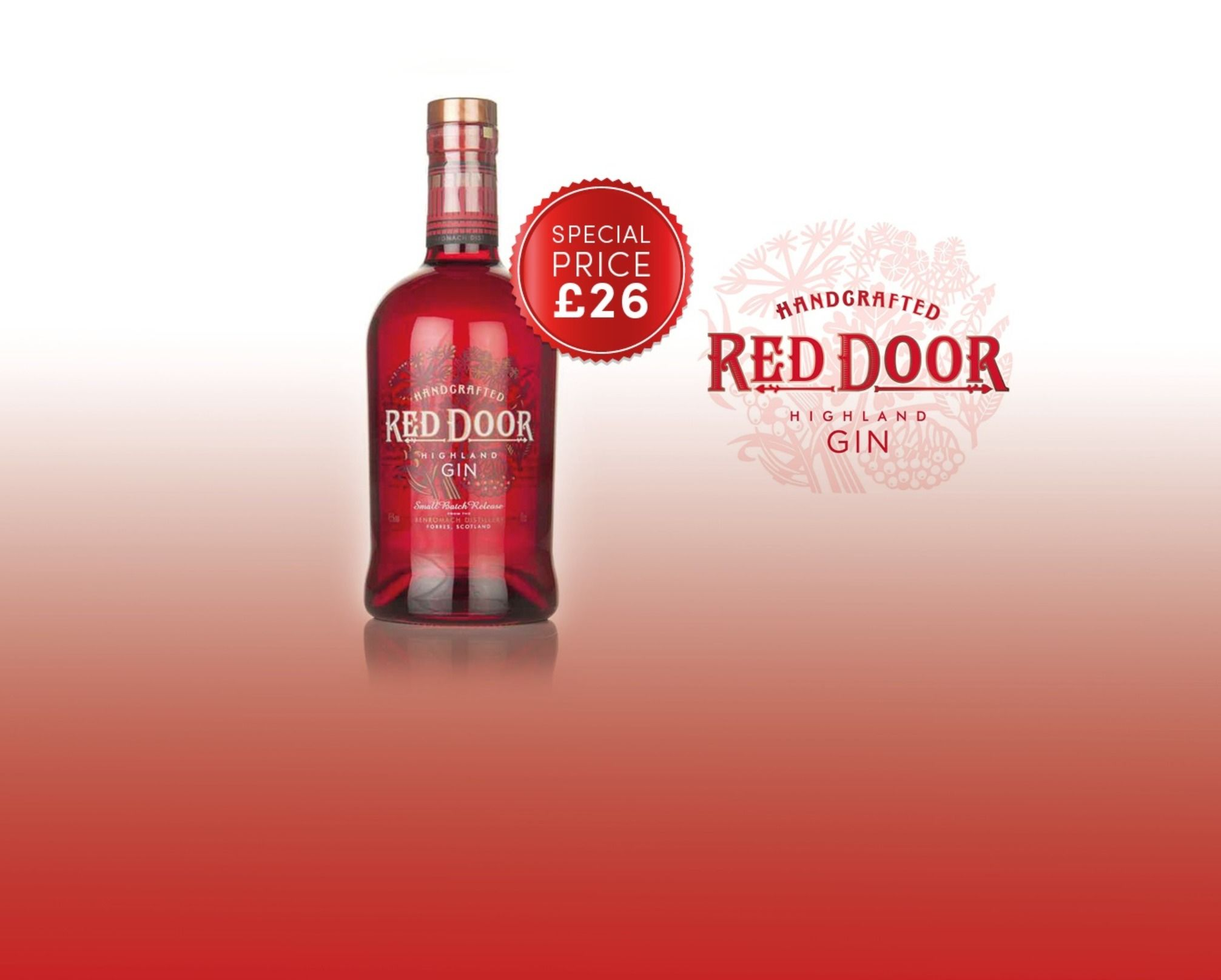 Red Door Small Batch Highland Gin 45 700ml Gin Red Door Scottish Gin