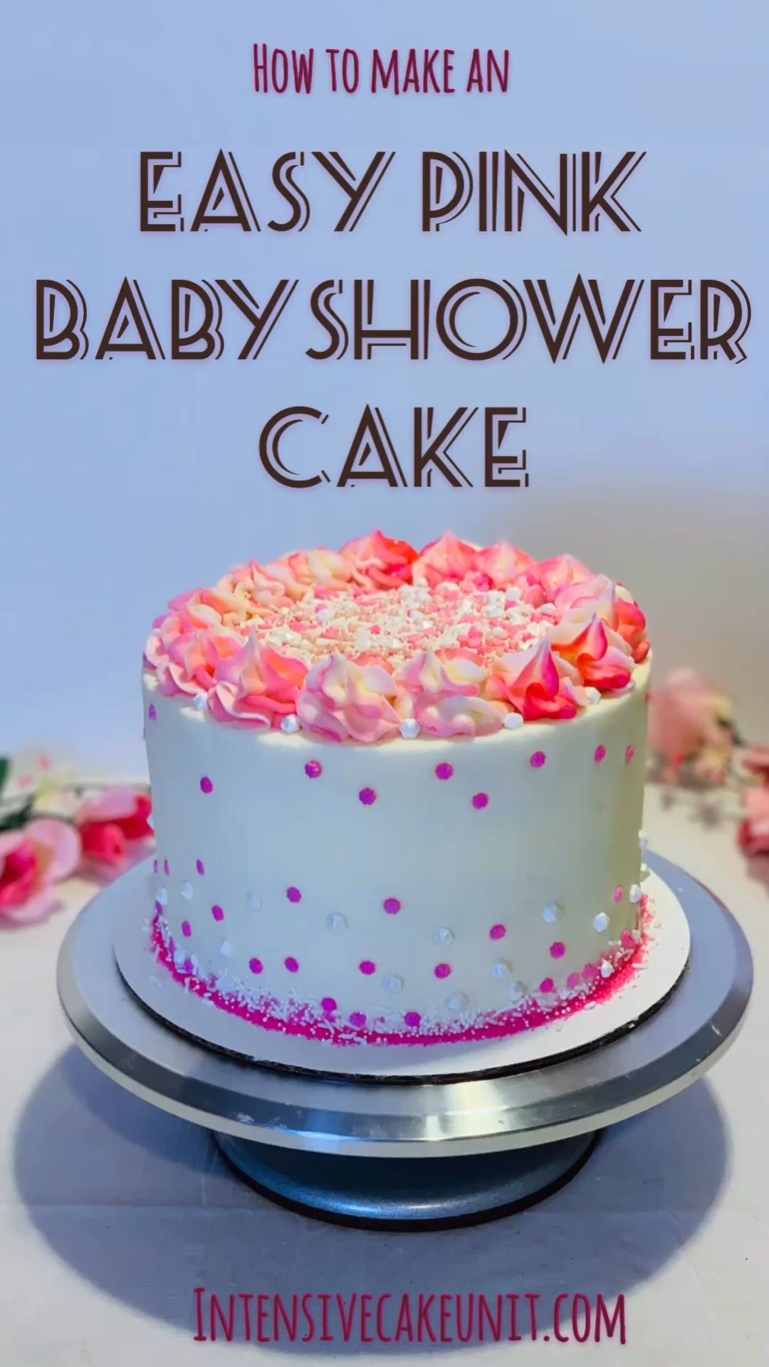 Easy Pink Baby Shower Cake -   15 cake Pink raspberry mousse ideas
