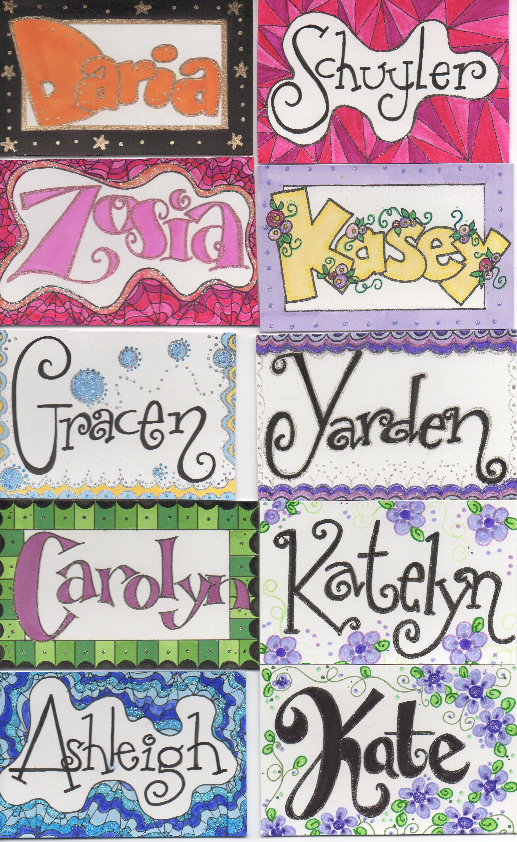 Name Tags I Drew For Kids Work With