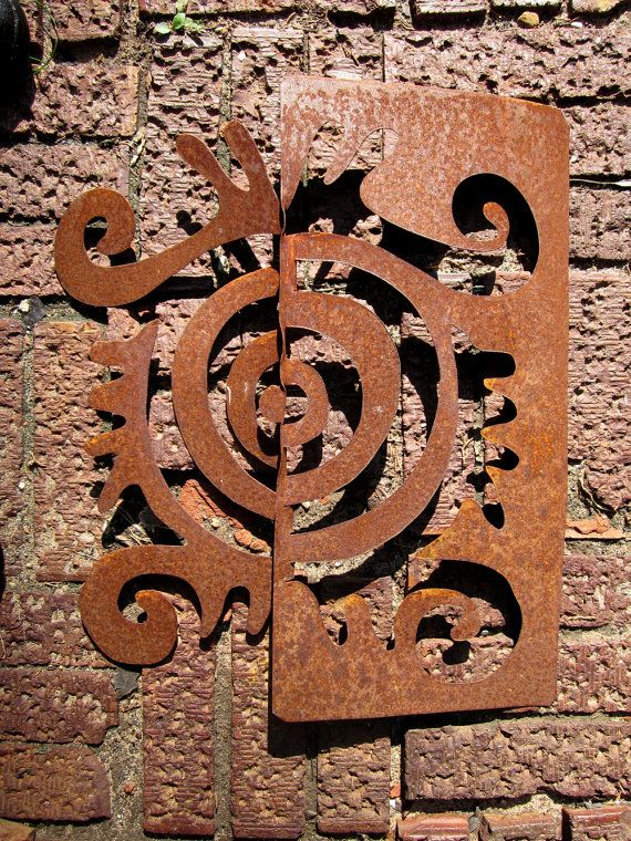 metal garden wall sculpture for yard home by chavenellestudio