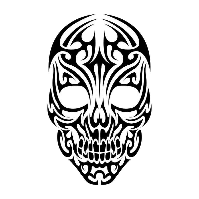 Interior Nice Designs nice tribal skull tattoo design artwork skulls pinterest design