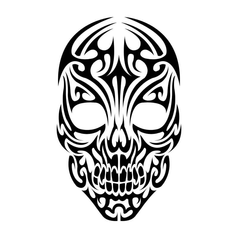 5cfd70434 Nice Tribal Skull Tattoo Design | Artwork - Skulls | Ideias de ...