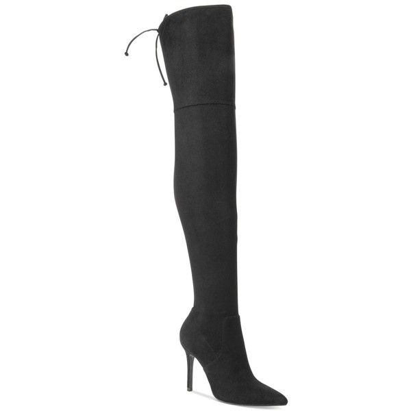 Boots, Thigh high suede boots, Black suede