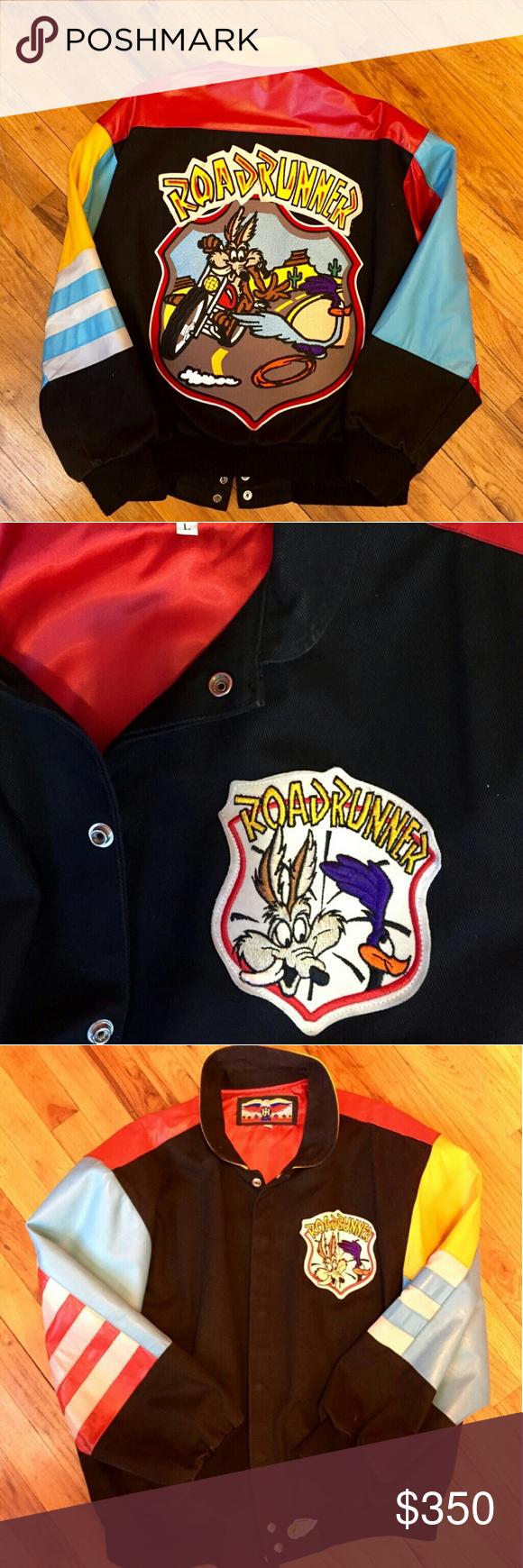 Vintage Jeff Hamilton Road Runner Leather Jacket Colorful Leather Jacket Leather Jacket Jackets [ 1740 x 580 Pixel ]