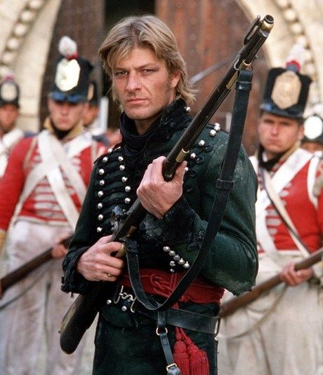 Sean Bean in Sharpe's Rifles- this is one of our favorite movie series ever.