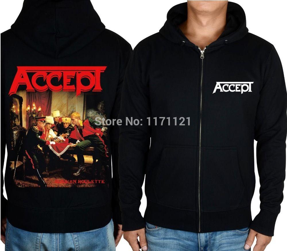 ed511e62a87 Click to Buy    ACCEPT Death Core HEAVY METAL BLACK zipper top mucis ...