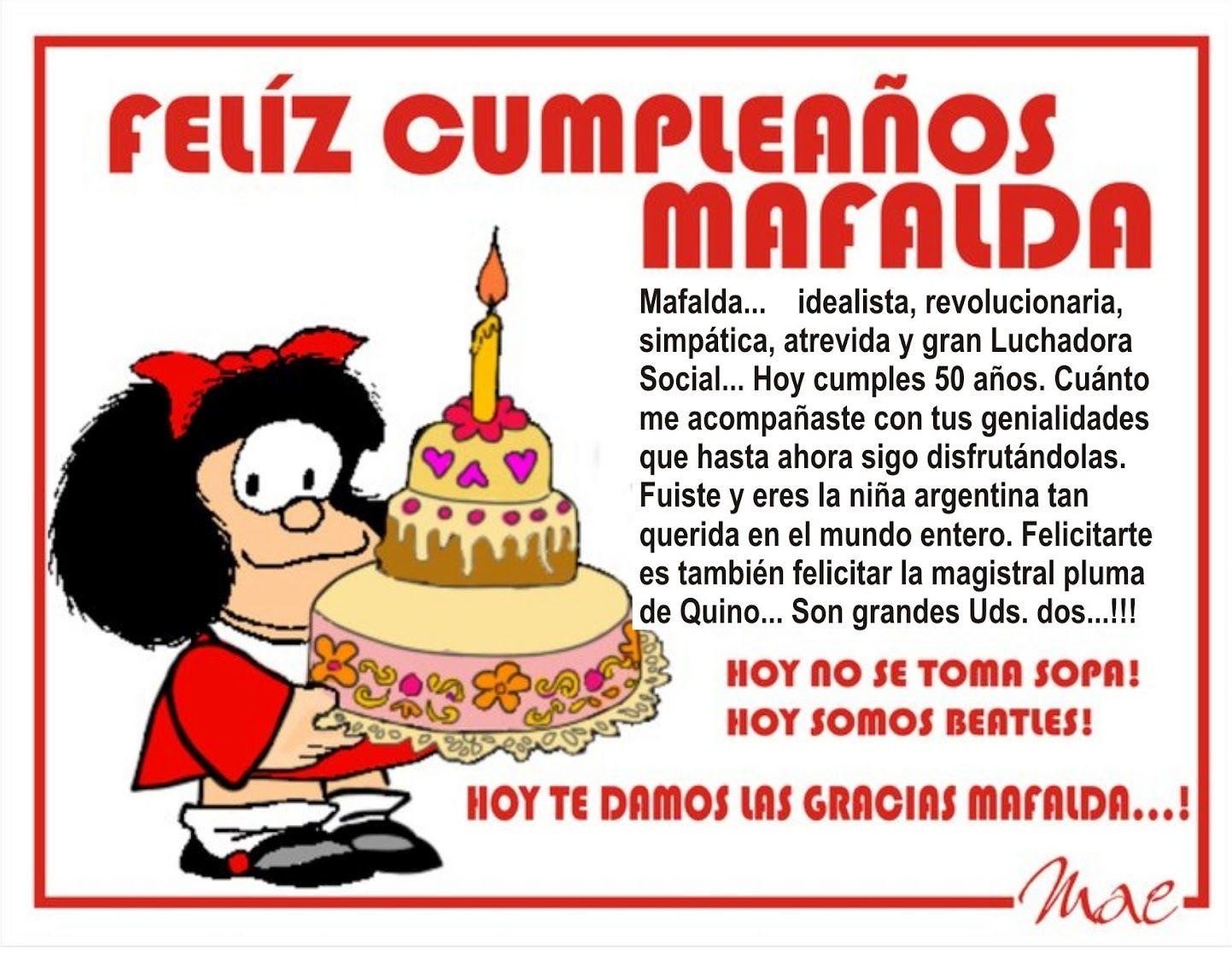 La Incisiva Caricatura Mafalda Cumple 50 A 241 Os El