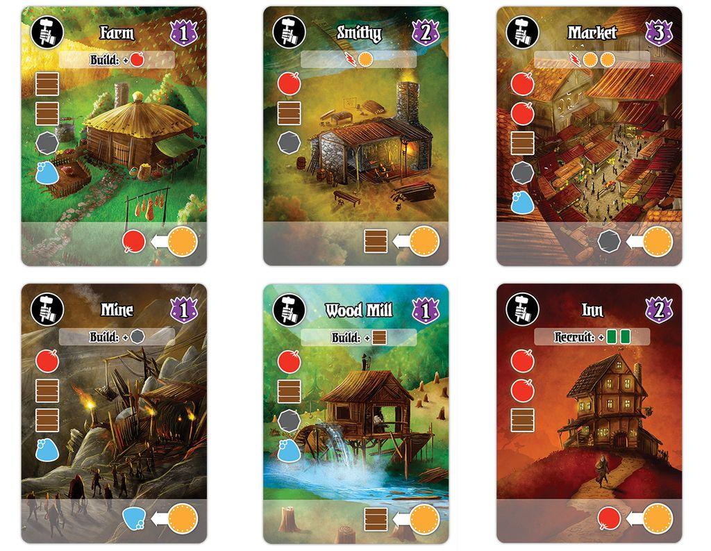 Villages Of Valeria Card Design Game Design Cards