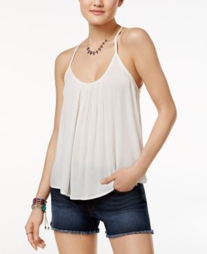 7d627d332 Roxy Juniors' Fly With Me Strappy Crisscross Tank Top - White XL ...