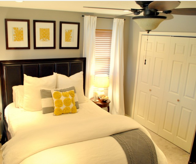 love the frames above the bed