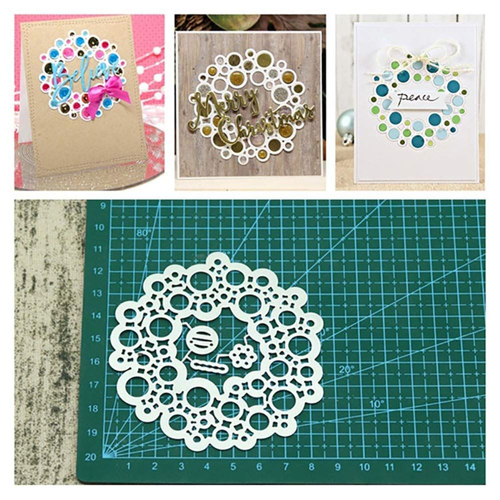 Circle Lace Frame Stencil Handmade Paper card Scrapbook Embossing photo Album