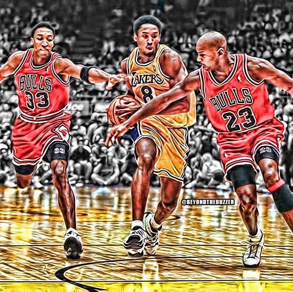 huge discount b75be 70228 Kobe Bryant vs Michael Jordan and Scottie Pippen