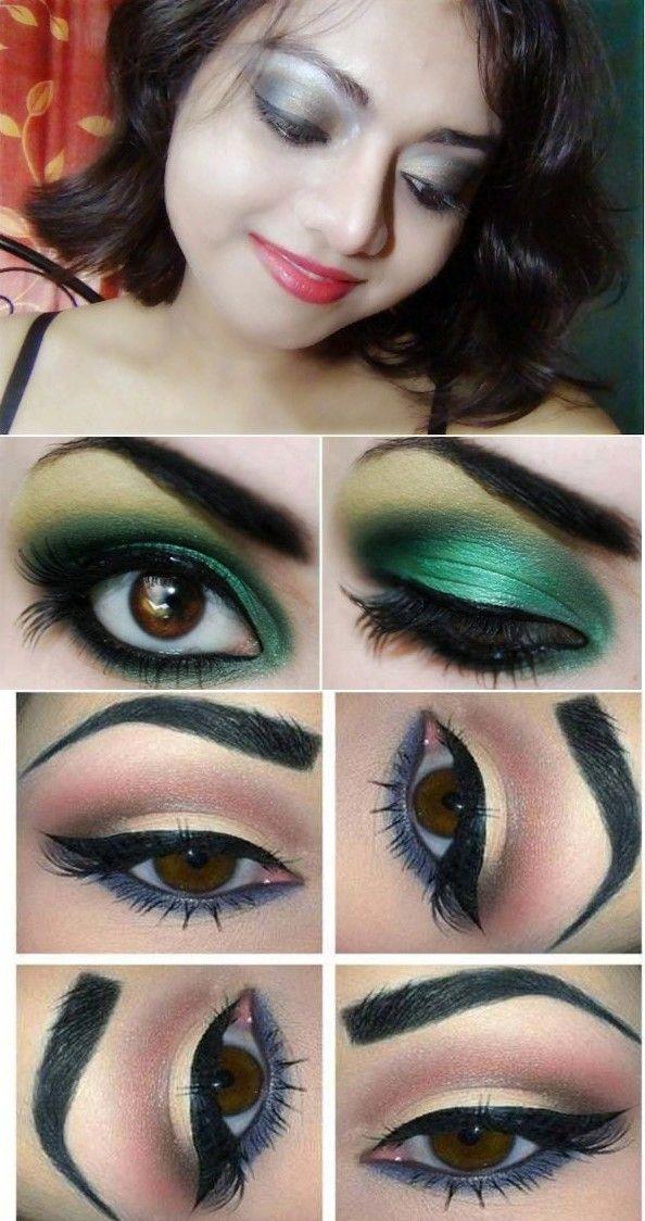 Smokey eye makeup tutorial for brown eyesBlack smokey eye