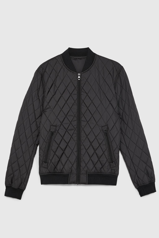 Diamond Quilted Jacket Zara United States Jackets Quilted Jacket Quilted Bomber Jacket [ 1500 x 1000 Pixel ]