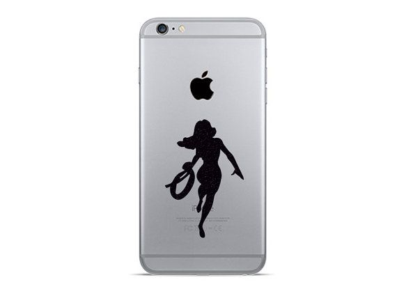 Wonder woman phone decals 2 super hero iphone 6 by mirshkastudio