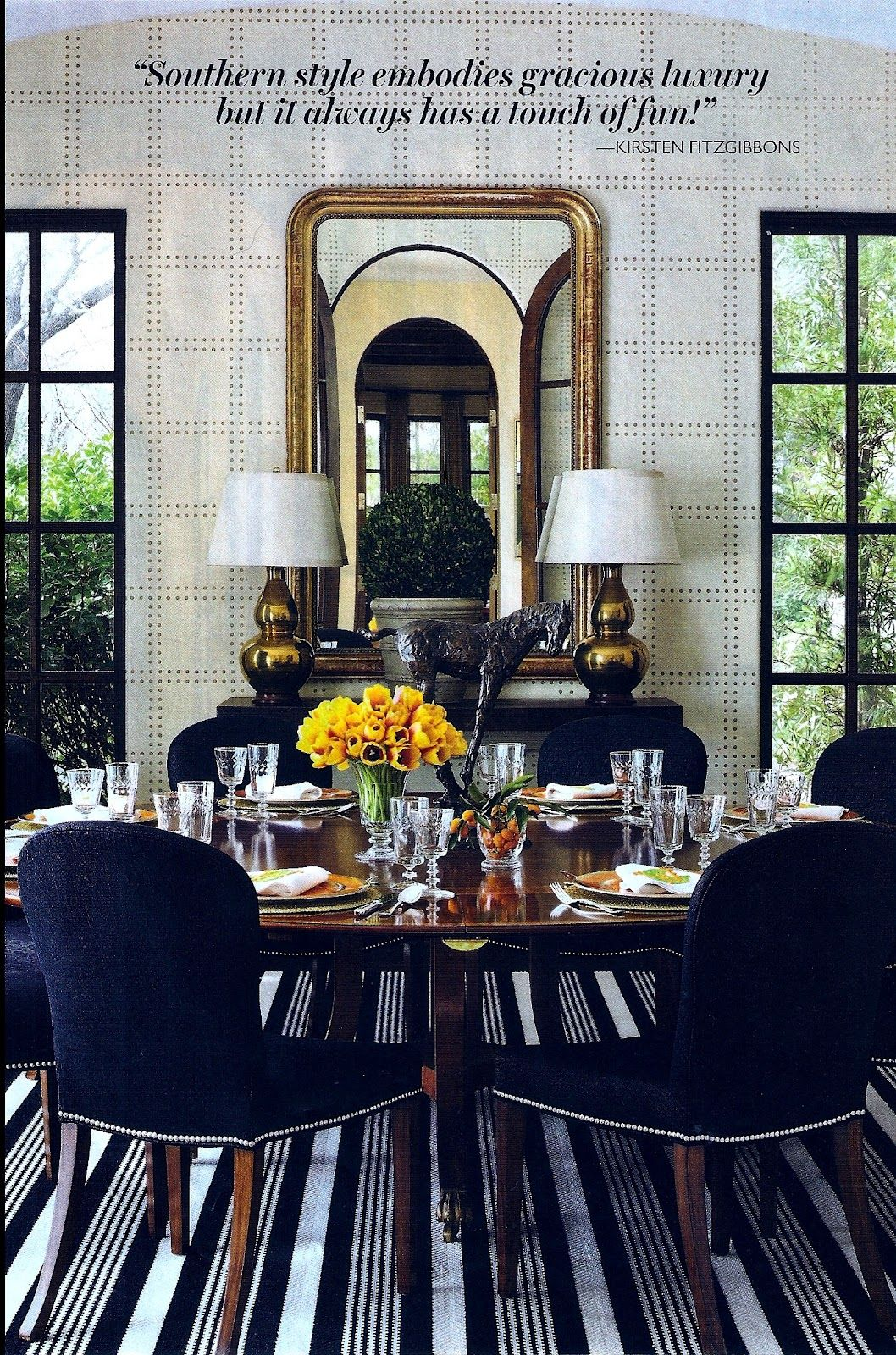 Southern Living.. Love! | Glamourous dining room, Dining ...