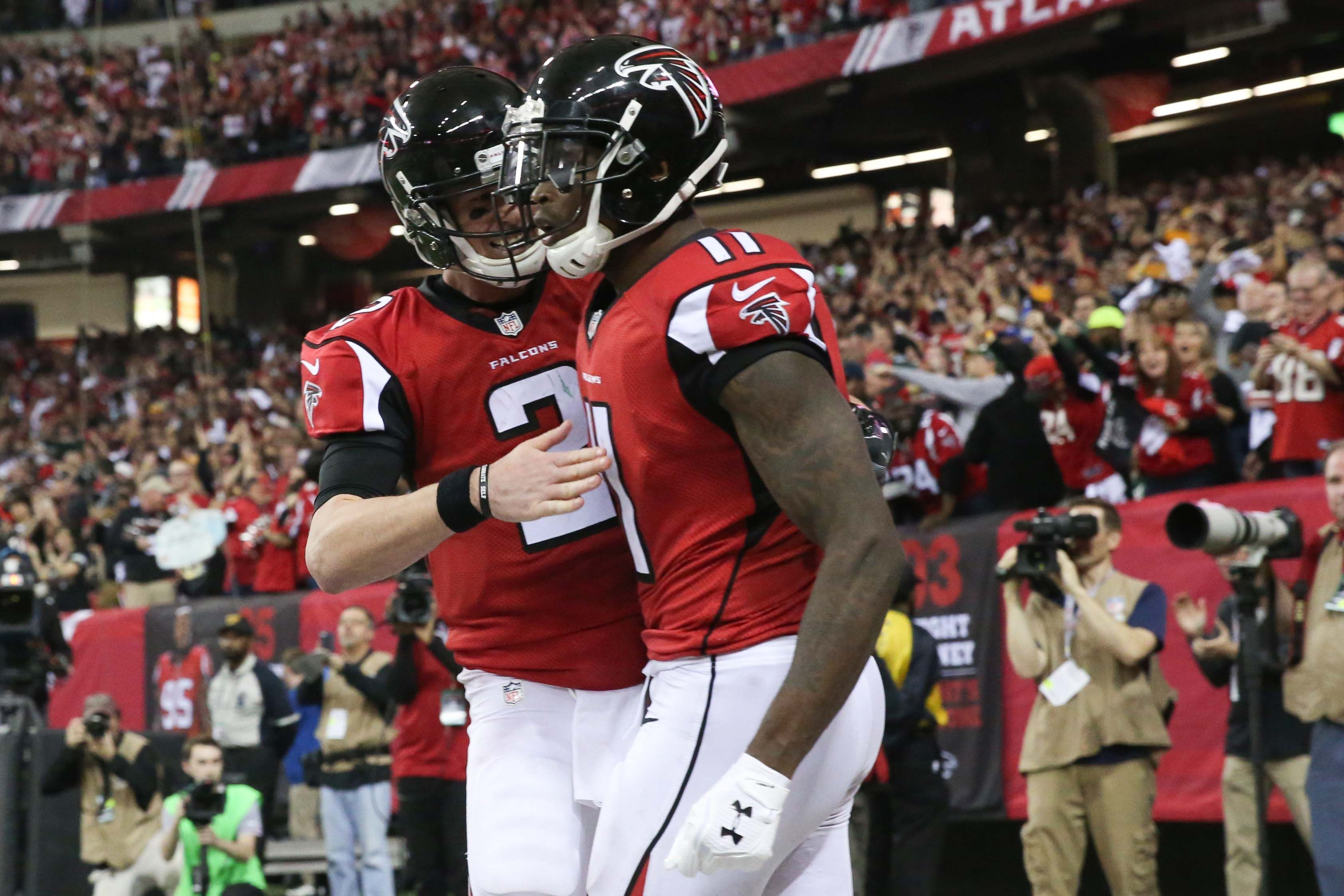 Matt Ryan And Julio Jones Should Be In The Top Ten On The Nfl Top 100 The Falcoholicclockmenumore Arrowstubhub Logo The Reigning Mvp B Julio Jones Nfl Matt Ryan