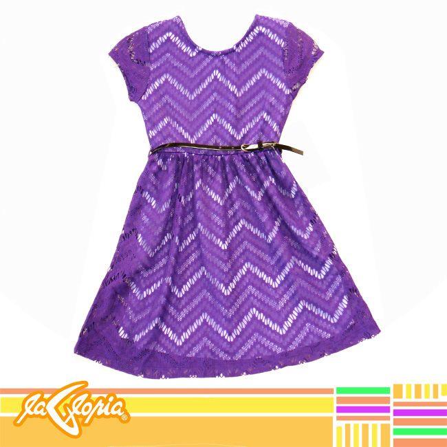 Un #Vestido en #Encaje para nuestra princesa,en tallas desde 4 hasta 8 años 3er.Piso #Niñas