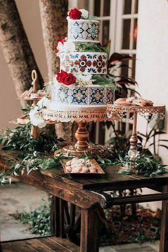 42 coloridas ideas para pasteles de bodas mexicanos |  Adelante de la boda  – Boda