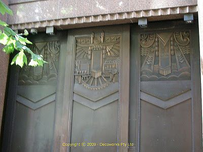Refief sculptures on doors