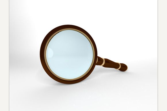 Magnifying Glass 3D rendering  @creativework247