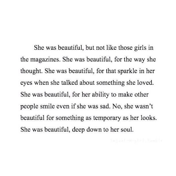 Beautiful Girl Quote From Inner Beauty Not Just Outer Appearance