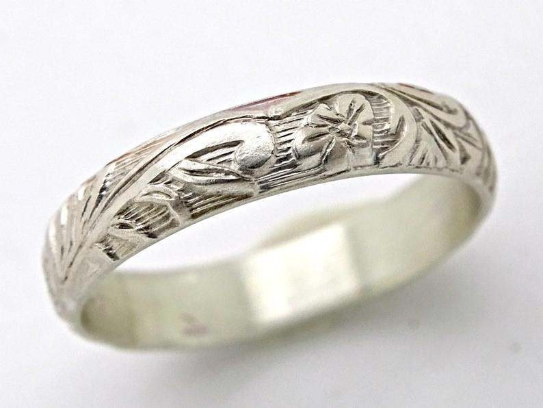 Size 6.75 Organic Molten Recycled Silver Ring