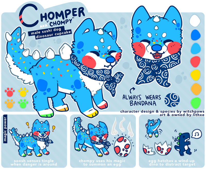 Sushi Dog Chompy By Lithxe On Deviantart Cute Drawings Dogs