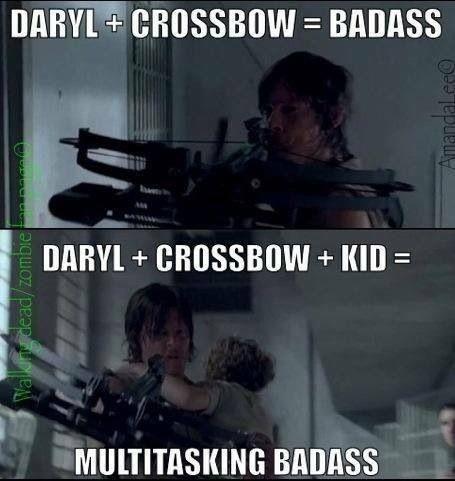 Daryl Dixon: multi-tasking badass