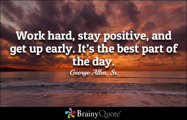 Quote Of The Day Work George Allen Srquotes  Staying Positive Work Quotes And Work Hard