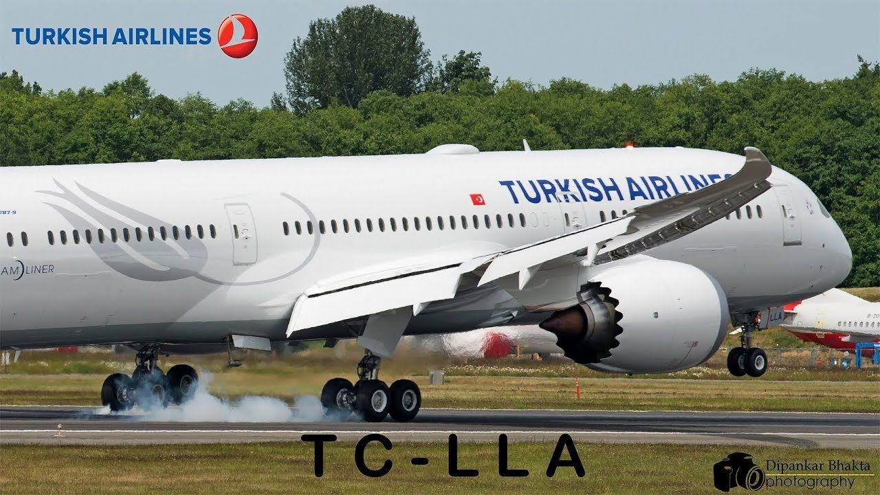 Turkish Airlines First Boeing 787 9 Tc Lla First Flight Takeoff Landin Boeing 787 Turkish Airlines Boeing
