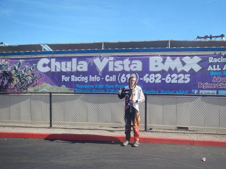 Park Orchards MUDX rider with a podium finish in Chula