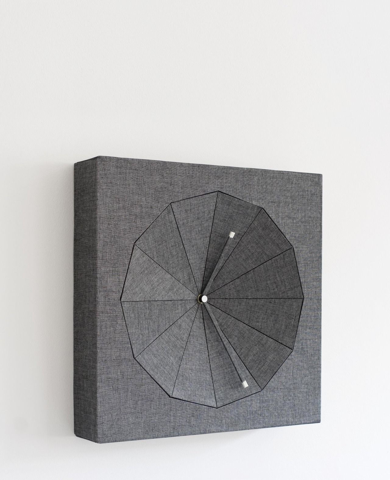 WEDGE. Clock of binder paper and cloth. 2006