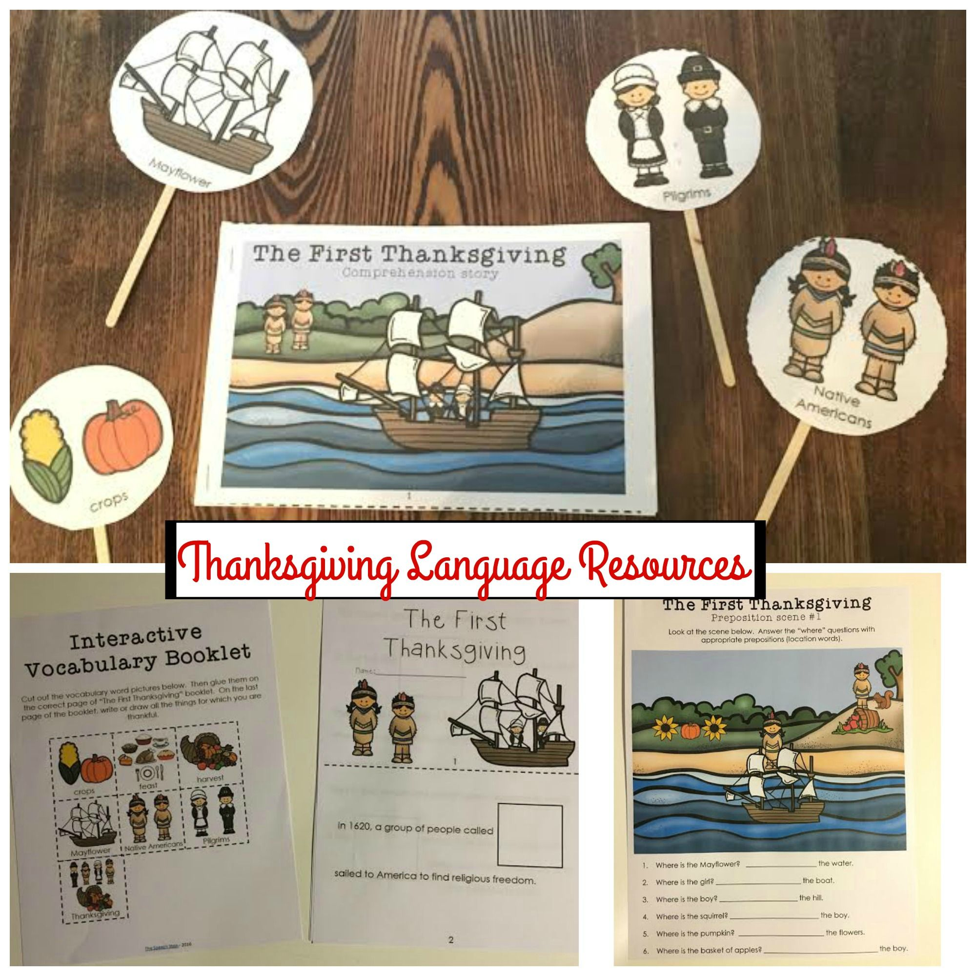 The First Thanksgiving Language Activities