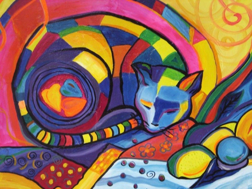 cuadros-grandes-pinturas-frida-kahlo-gatos-naif-en-oferta-23274 ...