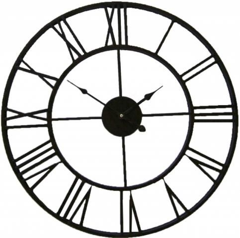 Black Iron Outdoor Garden Wall Clock From Earth Homewares
