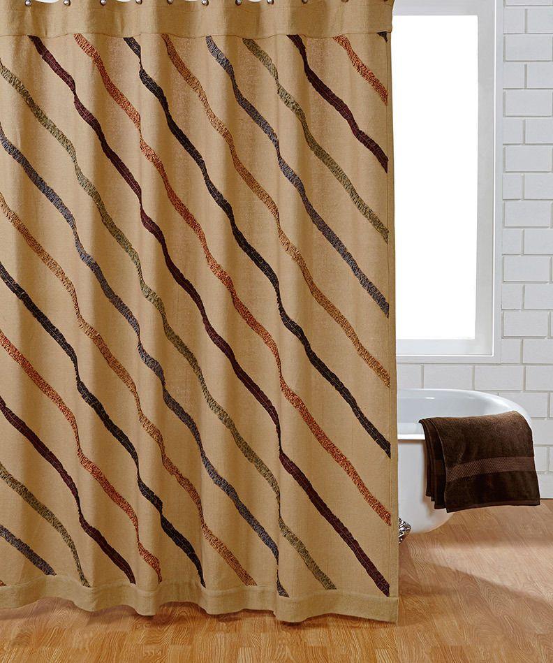 Lewiston Shower Curtain Burlap Ruffled Unlined 72x72in | Primitives ...